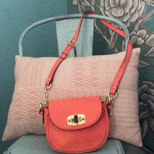 Hot Orange Merona Mini Crossbody purse